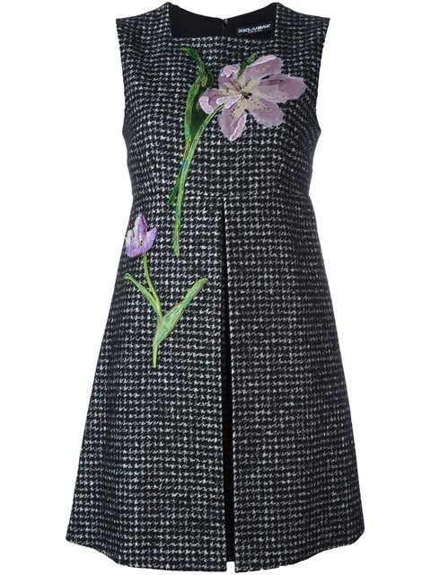 Shop Dolce & Gabbana flower patch tweed dress in Donne Concept store from the world's best independent boutiques at farfetch.com. Shop 400 boutiques at one address.