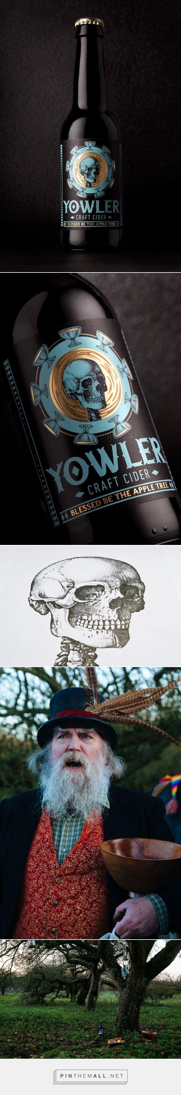 Yowler Cider label design by Sand Creative (UK) - http://www.packagingoftheworld.com/2016/08/yowler-cider.html - http://www.packagingoftheworld.com/2016/08/yowler-cider.html