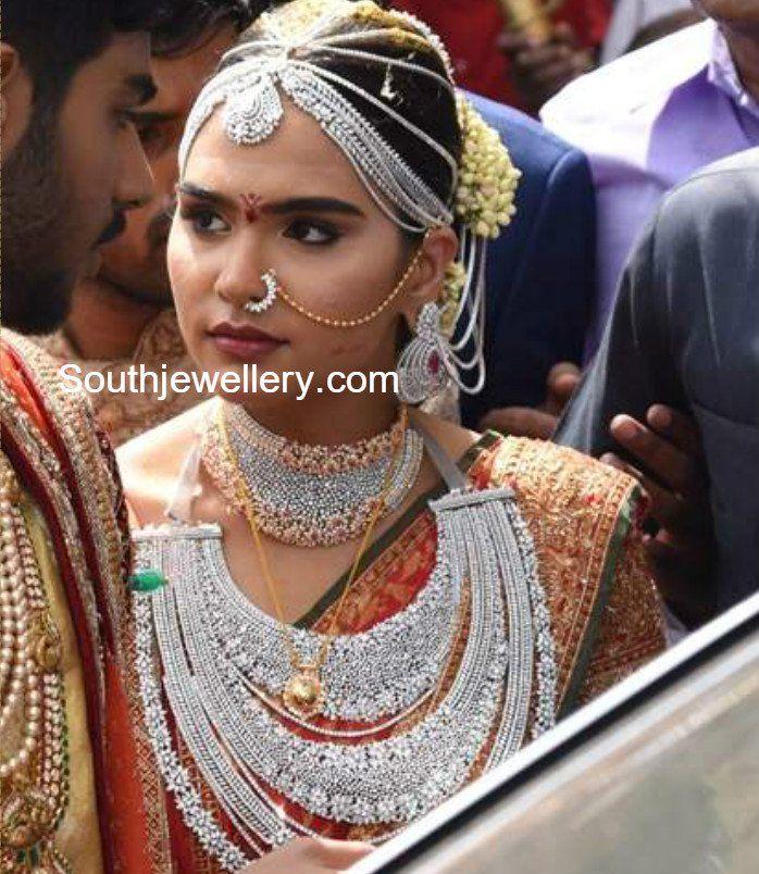 Gali Janardhan Reddy Daughter Bramhani's Wedding Jewellery, Brahmani Reddy wedding photos, Brahmini Reddy marriage jewellery