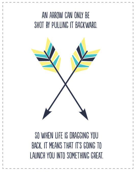 Arrow free Printable Quote