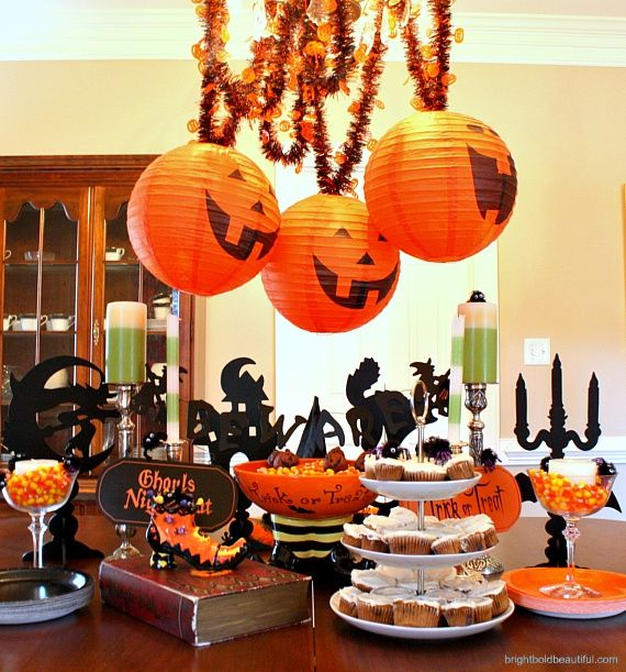 Halloween Table Decorations Boo Pinterest