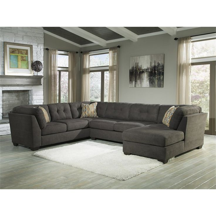 Ashley Furniture Delta City 3 Piece Left Facing Sectional In Steel    19700 38