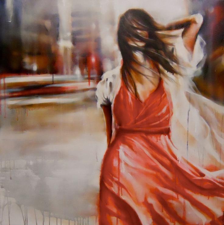 Tempest: Size: 90 x 90cm Media: oil on canvas Lisa Lee ...