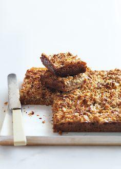 Anzac Caramel Slice | Donna Hay
