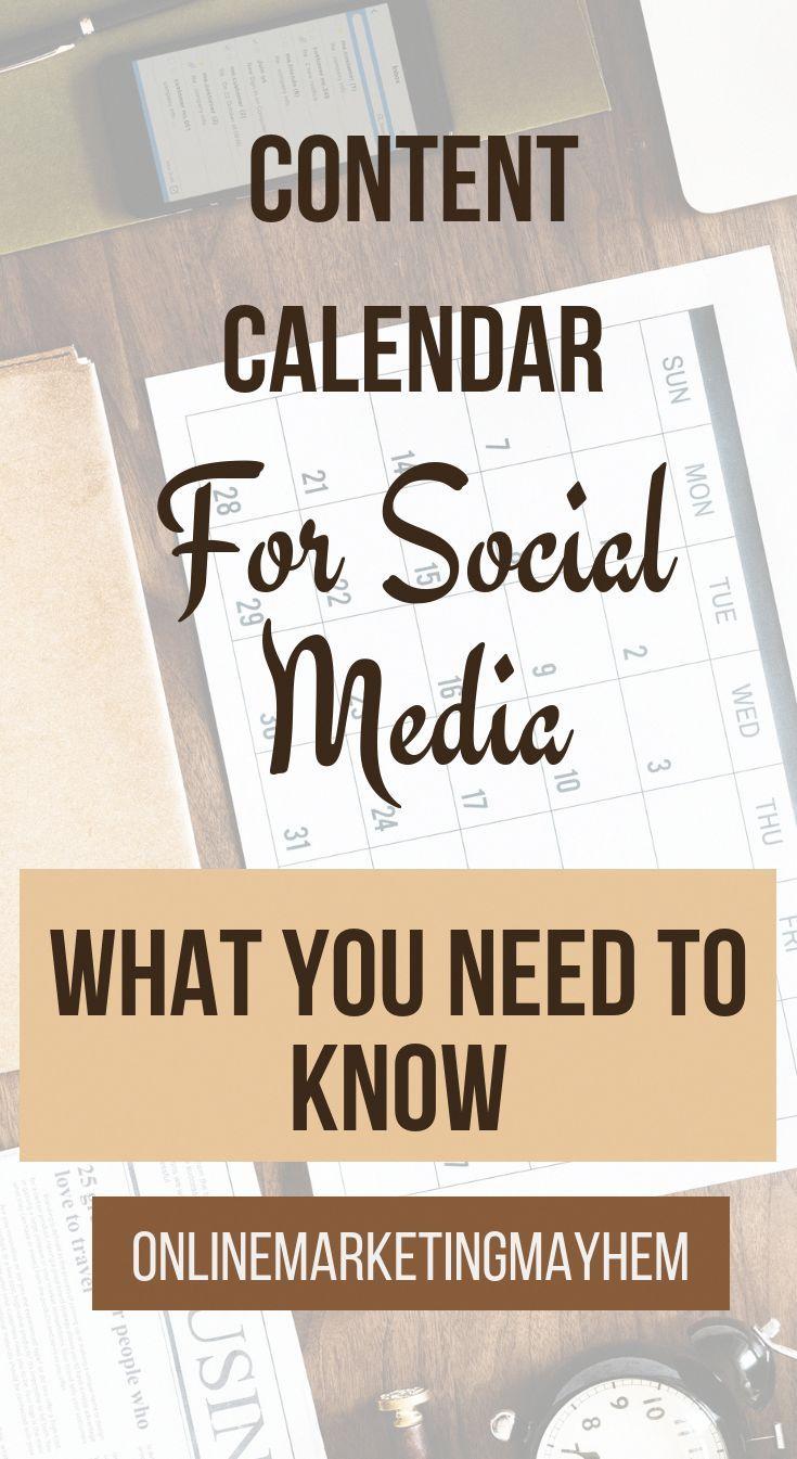 Content Calendar For Social Media Social Media Marketing Social Media Content Calendar Social Media