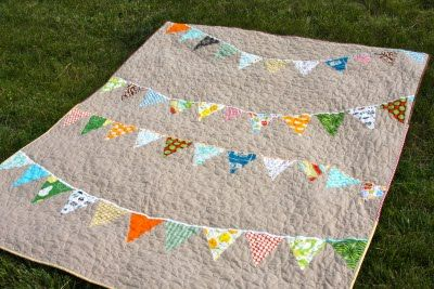 And here I thought I had an original idea for a banner quilt!: Cristin Wilson, Craft, Pear Trees, Quilts, Tree Stitching, Bunting Quilt, Banner Quilt, Banners, Baby Quilt