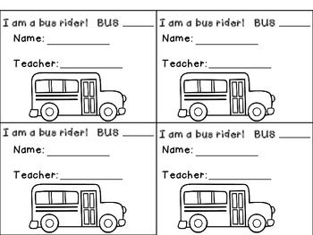 """Help your students remember how they are getting home from school.  These are extremely helpful young kids!    images from http://www.pinkcatstudio.com/ fonts """"Hello Fonts"""" by Jen Jones    keywords: bus tags, pick up tags, walker tags, daycare tags"""