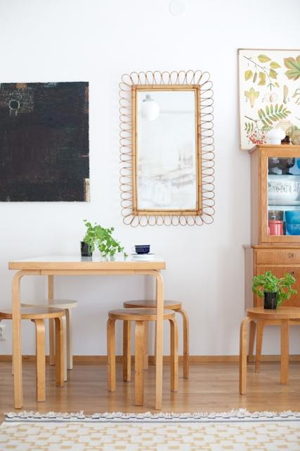 Dining room - Artek dining table by Alvar Aalto - Via Vihreä Talo