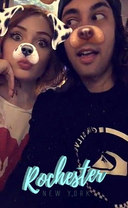 Vic Fuentes & his girlfriend Danielle on Snapchat