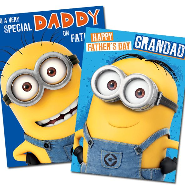 Sweet Despicable Me Minions Father's Day Cards now available from £2 and Free UK delivery direct from Publishers at http://bit.ly/FDayCards