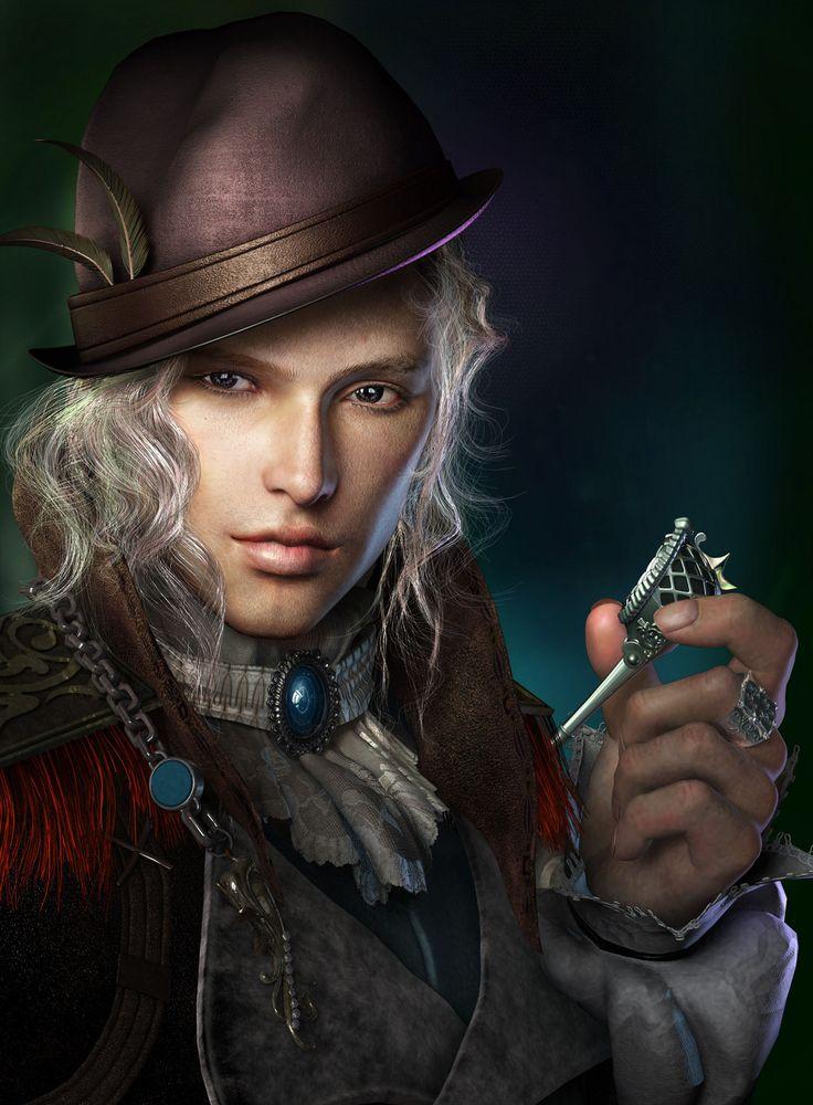 Fantasy male portraits | Bekins Picture (3d, fantasy, portrait, human, man)