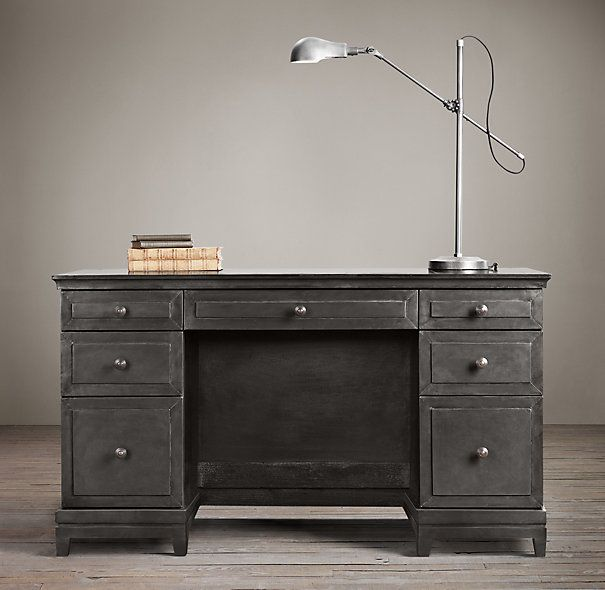 17 best images about work space on pinterest industrial for Restoration hardware bedside tables