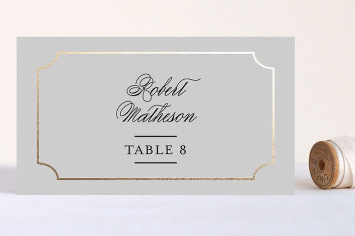 Classy Type Foil-Pressed Place Cards by Kimberly FitzSimons at minted.com