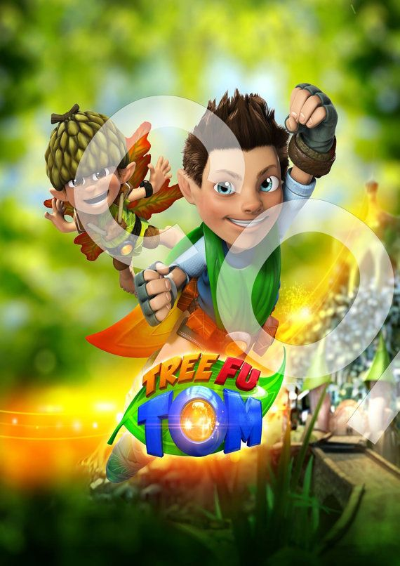 Tree fu tom iron on transfer for any colour by cupcaketoppers4all