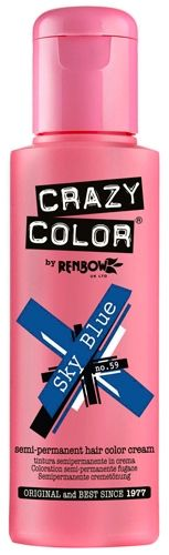 coloration crazy color sky blue teinture bleue cheveux semi permanente pour une - Coloration Semi Permanente Bleu