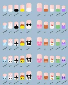 Zoo Nail Design                                                    These nails are so cute and easy ! #BeautyMakeup