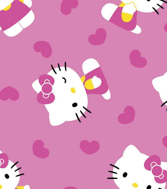 Licensed Cotton Fabric-Hello Kitty Glitter