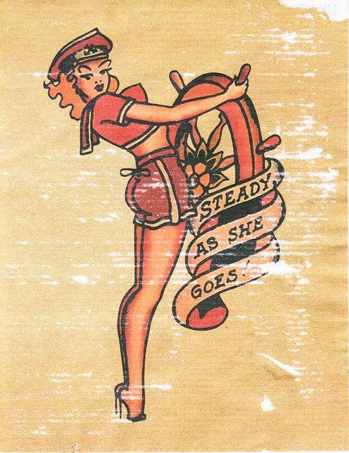 Old School Pinup Tattoo Flash | KYSA #ink #design #tattoo