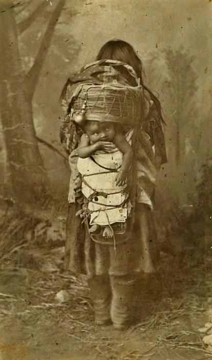 San Carlos Apache mother and child - 1886 ༺ ♠ ༻*ŦƶȠ*༺ ♠ ༻