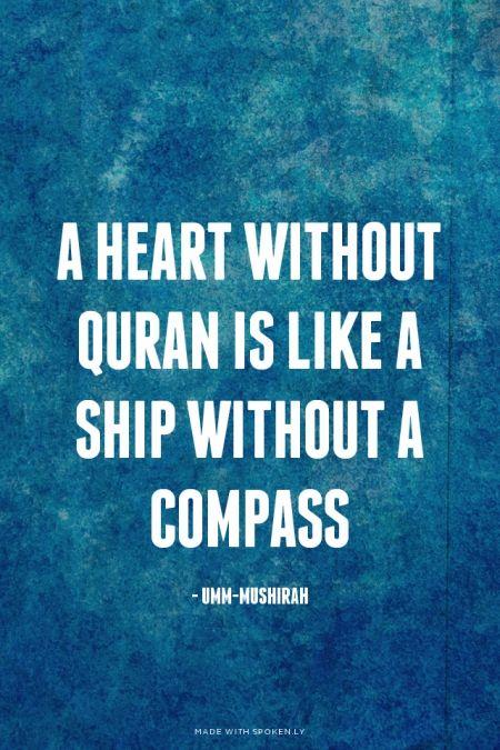"discoverislamthings: ""A heart without Quran is... - merpati putih terbang tinggi"