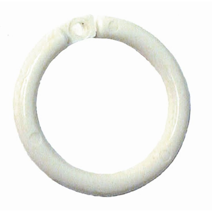 smart home 25mm white curtain rod rings pk10 hh201wp