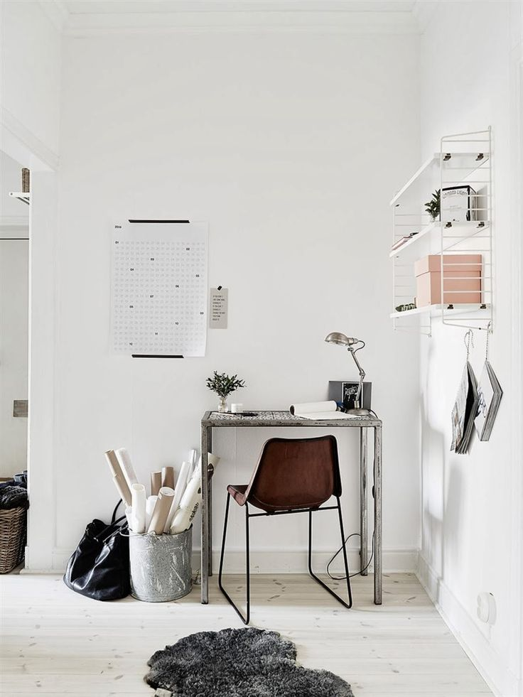my scandinavian home: A pretty Gothenburg apartment with a fab work space