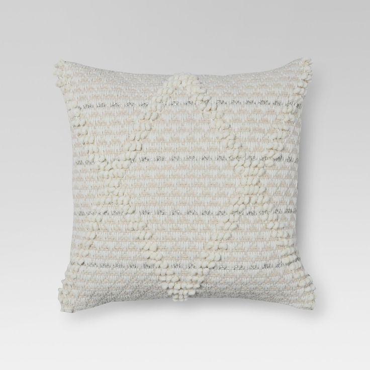 "Hand Woven Cotton Jute Throw Pillow (18"") - Threshold™ : Target"