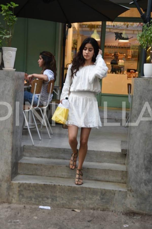 Photos: Jhanvi Kapoor looks angelic in this white summer dress | PINKVILLA