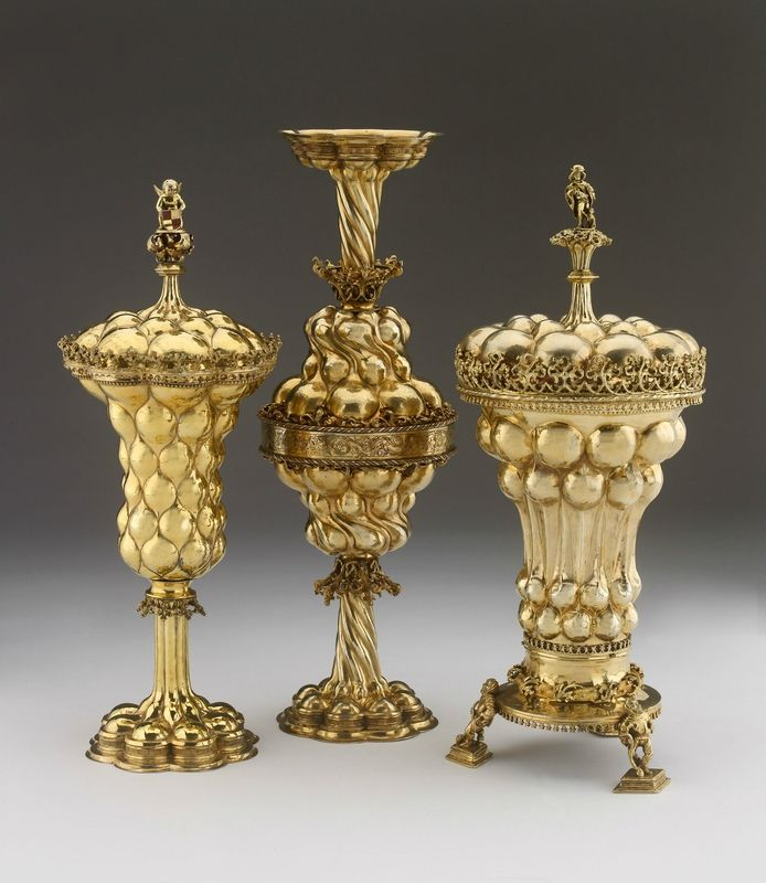 Three silver gilt cups from Germany, possibly Nuremberg (circa 1490). Bequeathed by Michael Wellby, 2012 © Ashmolean Museum, University of Oxford