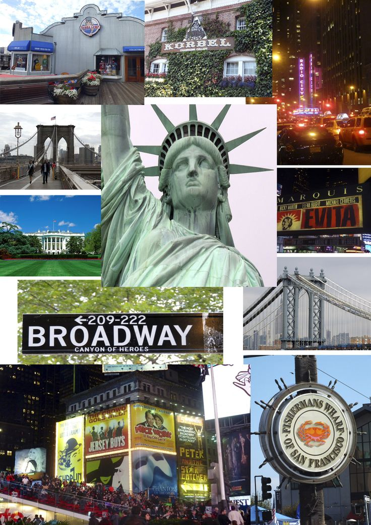 A collage of photos for marketing on my business Facebook Page. These are a few of the photos I took in the USA in October 2012.  I am escorting a group to Sonoma, San Francisco, NYC, Washington DC and Las Vegas in October 2014.