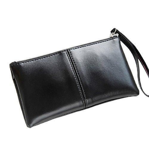 Oferta: 3.99€. Comprar Ofertas de Tongshi Las mujeres cuero de la tarjeta monedero de la cremallera larga plegable embrague bolso bolso de la carpeta (Negro) barato. ¡Mira las ofertas!