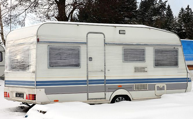 22 Ways To Make Your Camper Ready For Winter With Fewer Campers Ready To Tolerate T Camper Storage Ideas Travel Trailers Camper Storage Recreational Vehicles