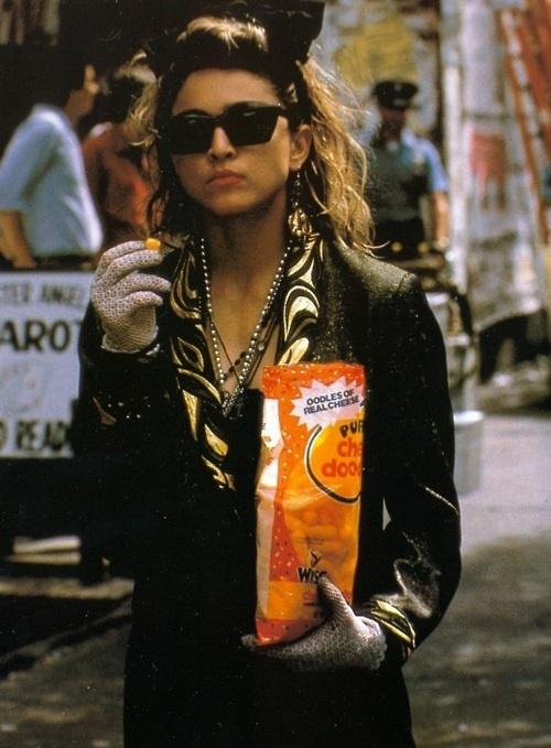 Madonna in 'Desperately Seeing Susan'  --  Costume Designer: Santo Loquasto
