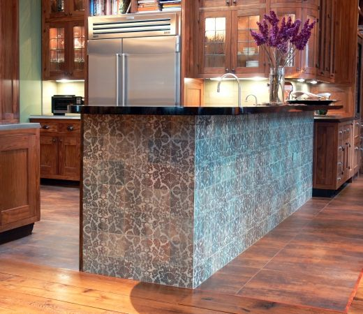 A Tiled Kitchen Island Cultivate Com Loft Kitchen