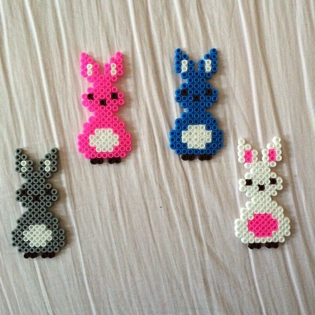 Easter bunnies hama beads by basakadvan