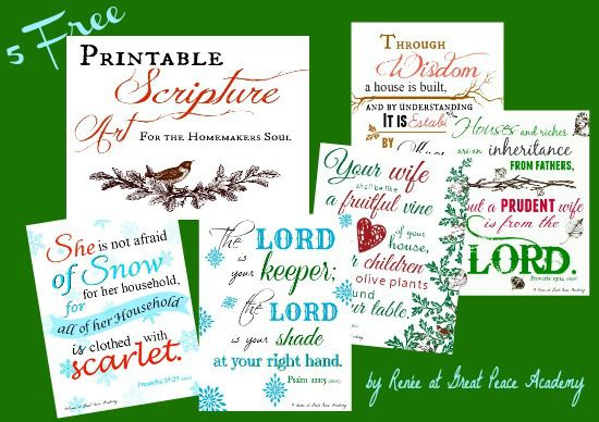 Free Printable Scripture Art for the Homemakers Soul