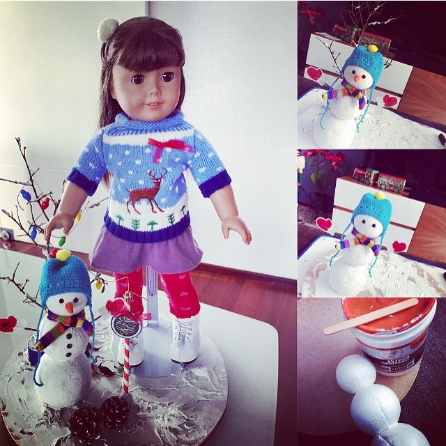 #Christmas #AmericanGirlDolls #Kids #Toys #Crafts #Diy #Manualidades #Muñecas #Snowman