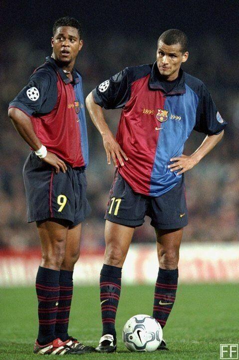 Barcellona 1999 Barcelona Rivaldo Patrick Kluivert