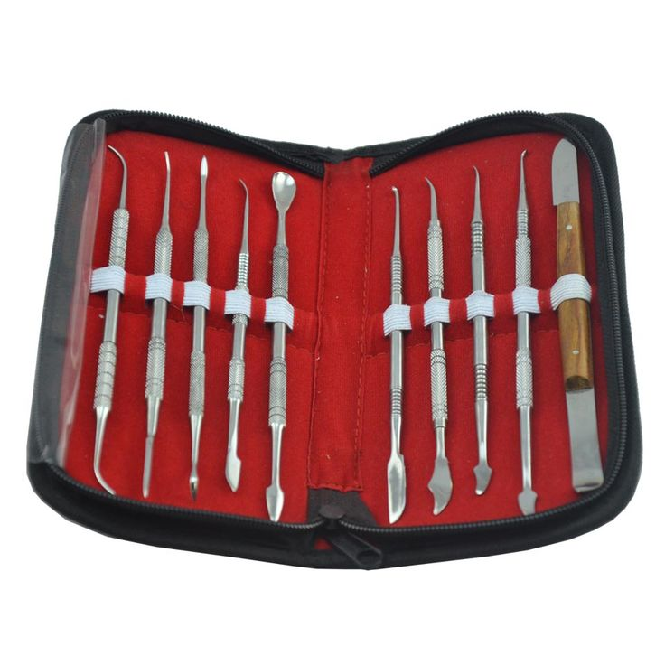10pcs/pack High Quality Dental Lab Equipment Wax Carving Tools Set Surgical Dentist Sculpture Knife Instruments Tool Kit