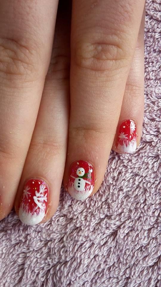Vernis Classique Rouge et blanc, thème Noël