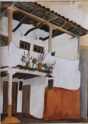 Traditional-Greek-home-acrylic-painting