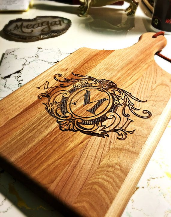 Monogrammed Cutting Board Personalized Wedding Gifts Housewarming Gifts Anniversary Gifts Personalized Cutting Board Custom Gifts 1496 by SipHipHooray