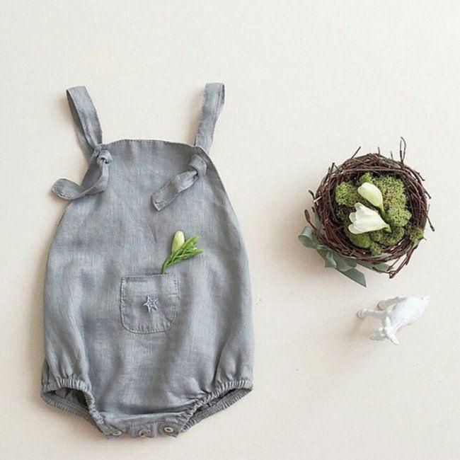 Baby Romper Corduroy Brace Shorts