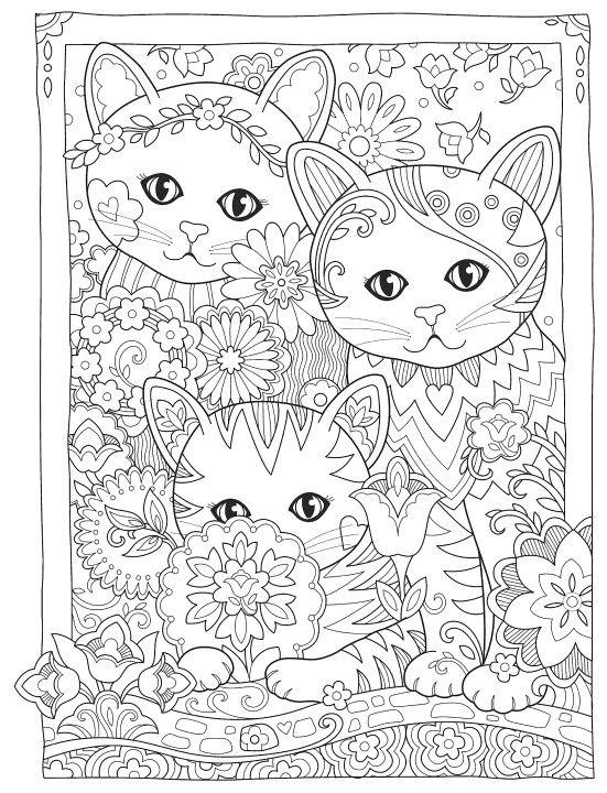 Раскраски «Животные» - «Красивые три кота» | Раскраски ...