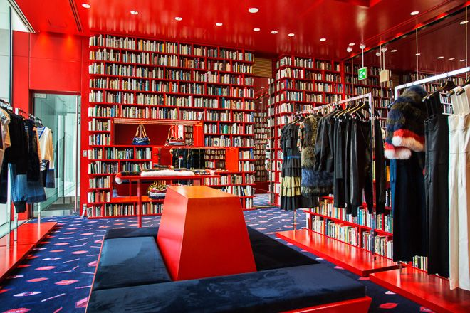 Sonia Rykiel opens library-themed store in Aoyama, Tokyo | DESIGN │ Shop  Display | Pinterest