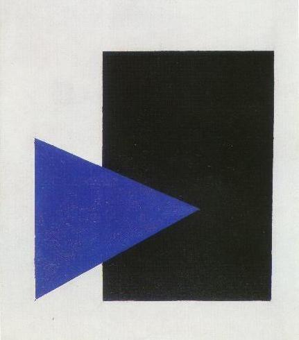 Black Rectangle, Blue Triangle