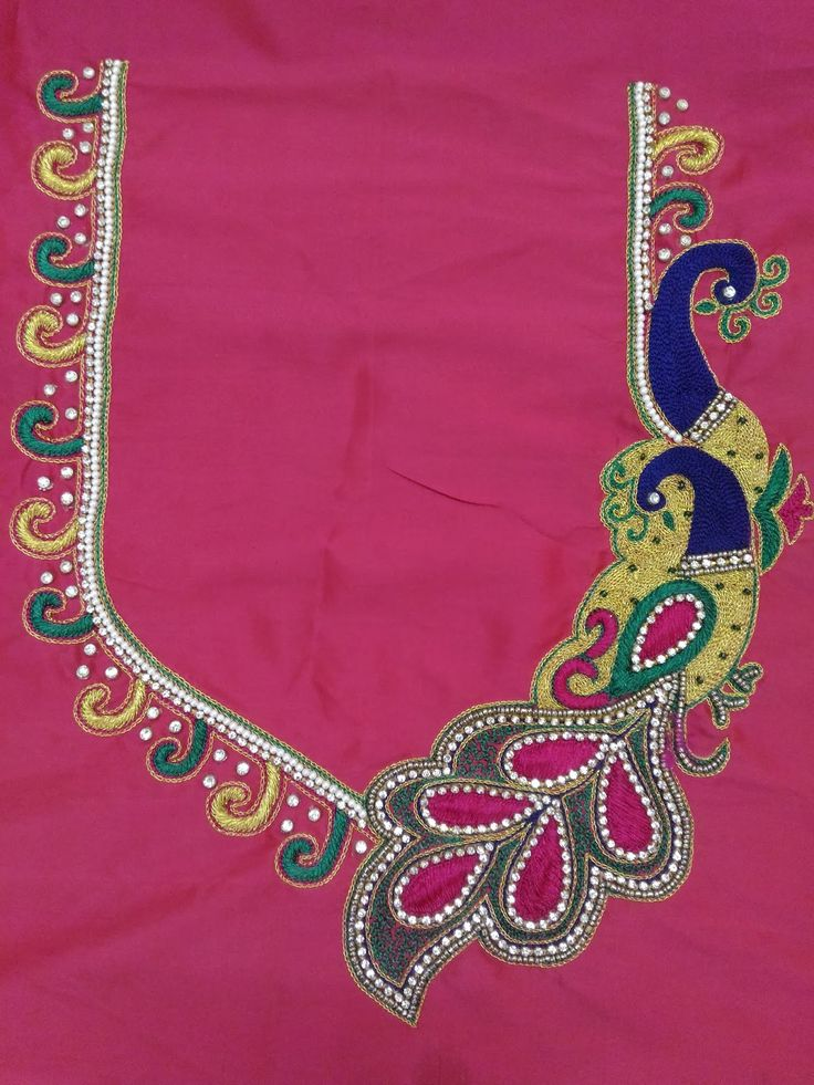 We Are Newly Started Maggam Work Designs on blouses,   I am Attached some simple Maggam Work Designer Blouse Images for Reference. We are s...