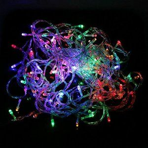 100 Led 10m Christmas Wedding Multicolor Multi Mix Color Changing RGB Party Fairy String Lights with 8 Function Controller  E-Goal $5.98