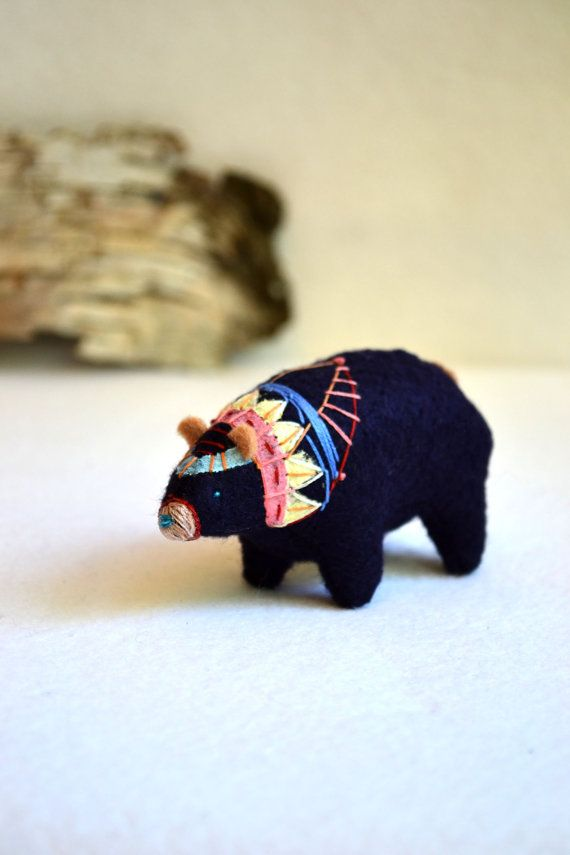 clan bear soft sculpture ... more bears on etsy!