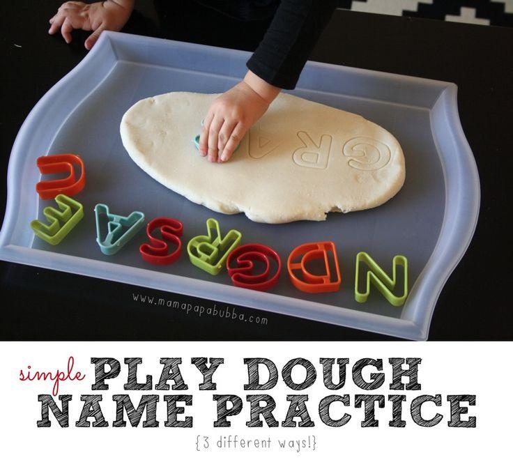 Simple Play Dough Name Practice {3 Ways} | Mama.Papa.Bubba.
